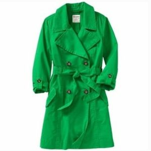 Old Navy Green Trench Coat Size S